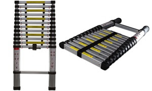 12.5' Telescoping Aluminum Extension Ladder