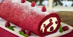 Bûche framboise, un délicieux gâteau rouge pour vos fêtes de noël 2018.