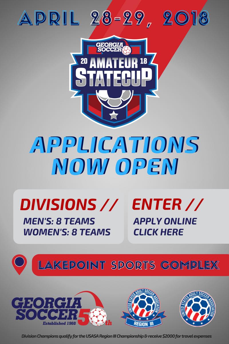 AmateurStateCupEnterEmail Tournament Alert: The 2018 Amateur State Cup | Enter NOW