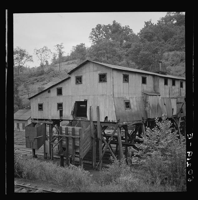 Abandoned mine tipple. Scotts Run, West Virginia