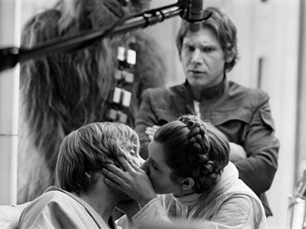 Jealous much? -on the set of Star War, The empire strikes back