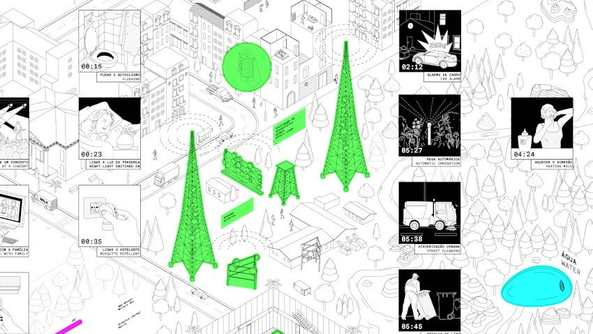 """© Dotdotdot per MAAT: dettaglio del murale illustrato di 12 mt dell'installazione """"24hours – The Ecology and Energy of our Flux"""" in collaborazione con EDP Innovation"""