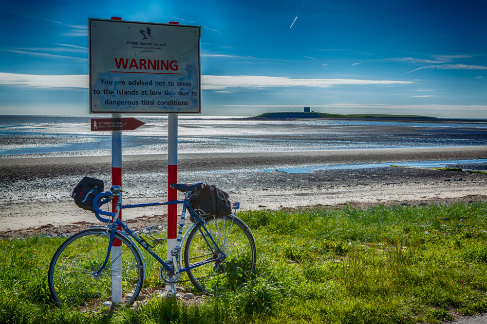 bike at Skerries South Strand