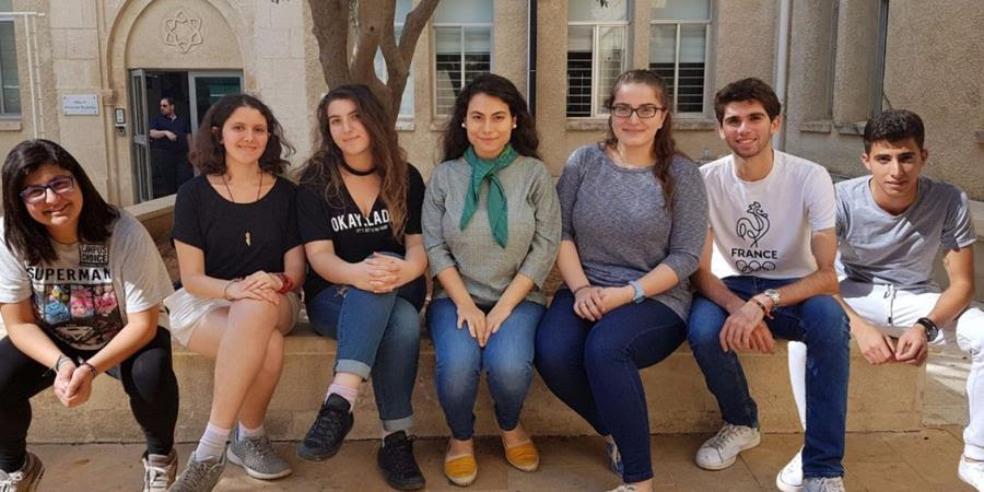Club's Cabinet (from left to right): Marianne Touma, Hala Haddad, Lara Abdallah, Rea Al Hallal, Lyne El Khatib, Mohammad Fleyfel and Houssain El Zoaby.