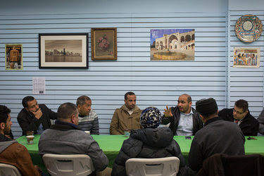 A group of Yemeni-American business and community leaders met at the Al-Noor Social Center, in Bay Ridge, Brooklyn, on Saturday in response to President Donald J. Trump's executive orders to temporarily ban visa-holders and green cardholders from seven predominantly Muslim countries.