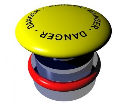 Danger Button - Public Domain