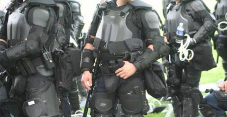 Police Dressed Up Like Darth Vader - Photo from Elvert Barnes on Flickr