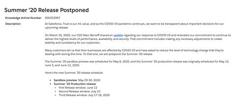Summer release update