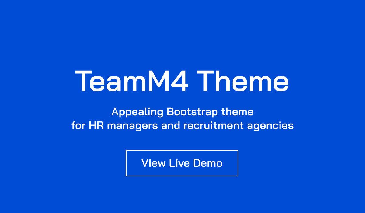 Mobirise TeamM4 Theme Launch Promo