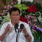 Le président philippin Rodrigo Duterte lors d'une conférence de presse au palais présidentiel du Malcanang à Manille, le 27 juin 2017. (Crédits : AFP PHOTO / NOEL CELIS)