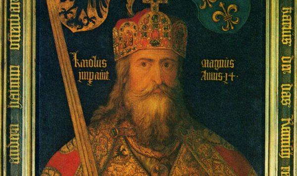 Ideaalbeeld van Karel de Grote met kort na zijn dood gemaakte delen van de keizerlijke regalia, in 1513 door Albrecht Dürer geschilderd in opdracht van zijn vaderstad Nürnberg.