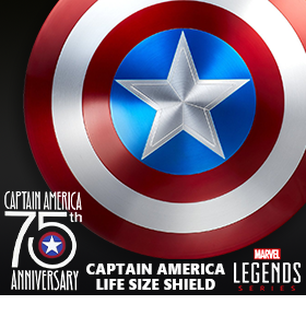 CAPTAIN AMERICA 75TH ANNIVERSARY LIFE SIZED SHIELD