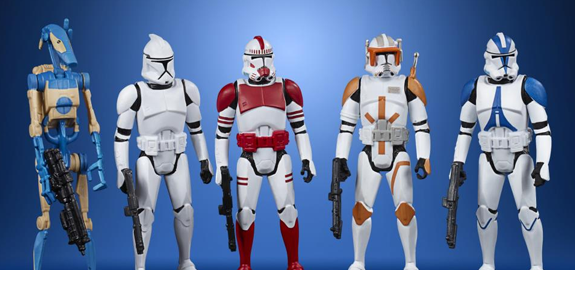 Star Wars Celebrate the Saga Galactic Republic Pack of 5 Figures