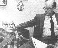 Antonio Muro y su hermano José Antonio, días antes de morir.
