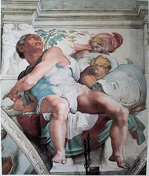 The Prophet Jonah, as depicted by Michelangelo...