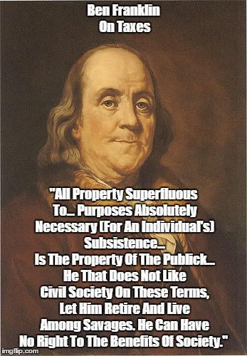 Image result for pax on both houses, ben franklin taxes