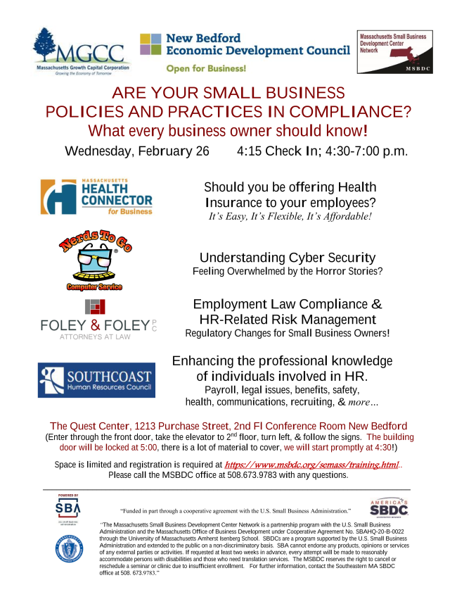Workshop: Are Your Small business Policies and Practices in Compliance?