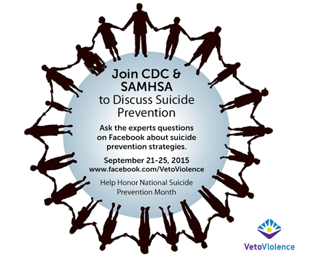 Join CDC & SAMHSA to Discuss Suicide Prevention