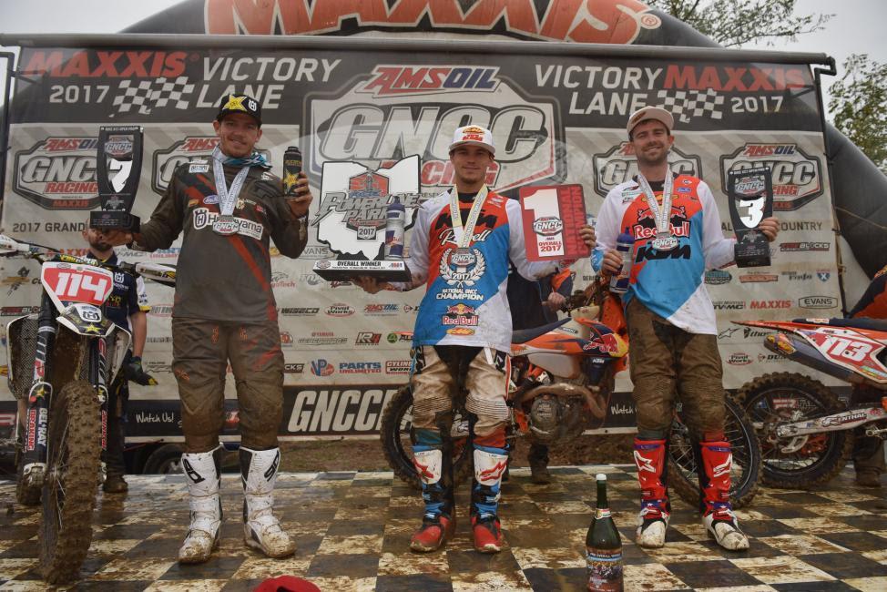 Overall Podium: (2) Josh Strang, (1) Kailub Russell, (3) Russell Bobbitt.