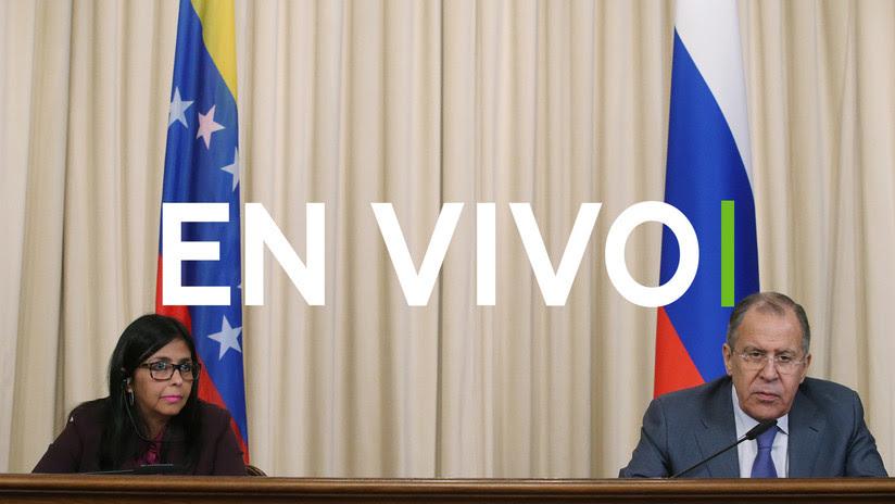 EN VIVO: La vicepresidenta venezolana Rodríguez y el canciller ruso Lavrov se reúnen en Moscú