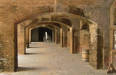 Fort passageway inside Fort Zachary Taylor Historic State Park