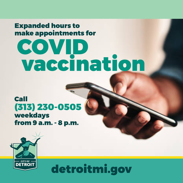 Expanded Hours for COVID Vaccination Appointments