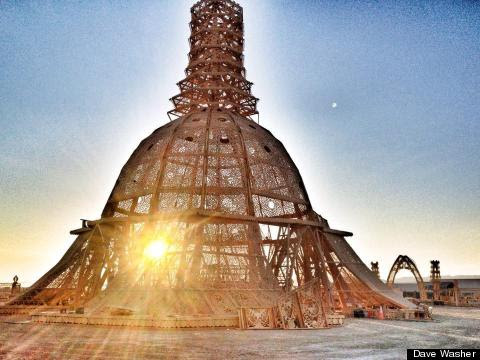 PHOTOS: Burning Man's Stunning Temple of Grace Goes Up In Flames