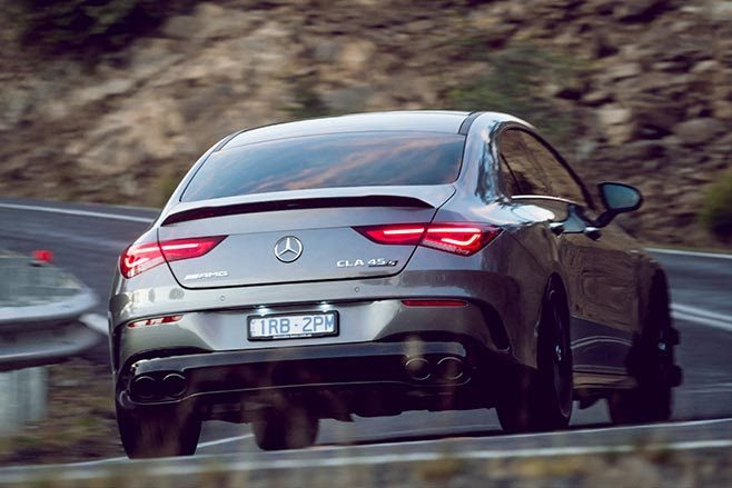AMG CLA45 S driving rear