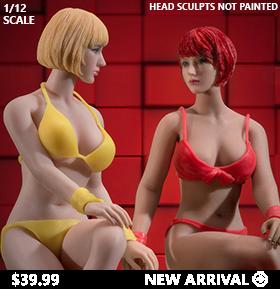 Super-Flexible Female Seamless 1/12 Scale Medium Bust Body