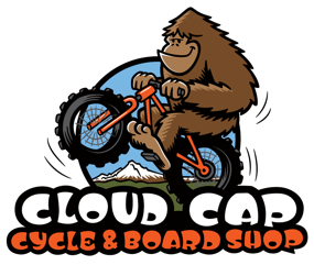 Cloud Cap Cycle and Board Shop Logo