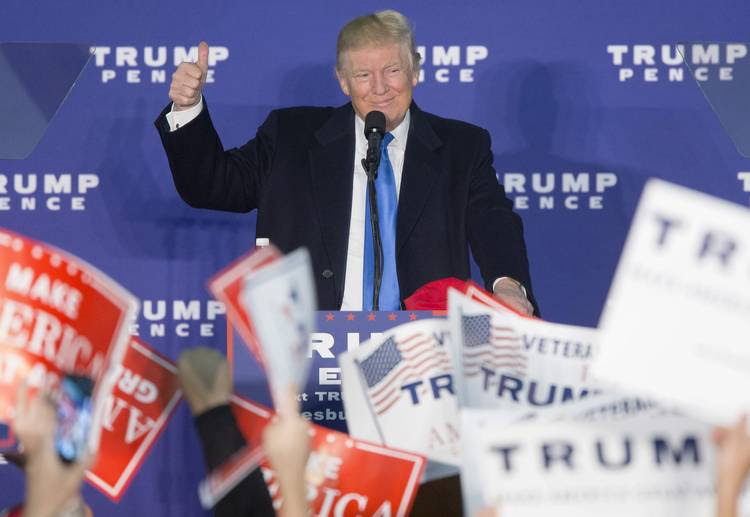 Donald Trump campaigns in November 2016 at a rally in Leesburg, Va. (Michael Reynolds/European Pressphoto Agency)