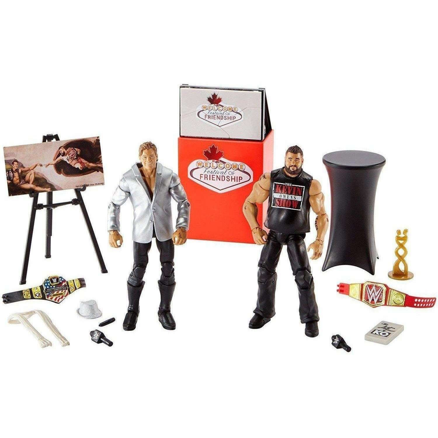Image of WWE Welcome Festival Of Friendship Kevin Owens & Chris Jericho Figures - 2 Pack