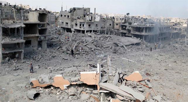 Viviendas de palestinos, de barrios enteros, destruidas por los bombardeos de Israel.