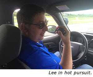 Lee in hot pursuit