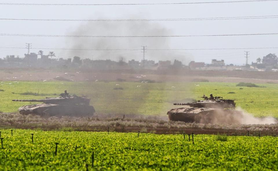 Israel announced Thursday it was launching a ground operation into Gaza after more than a week of airstrikes and rockets between it and Hamas. Pictured: Israeli tanks headed toward the Gaza border.