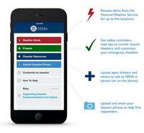 Screenshot of FEMA App