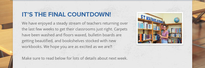 IT'S THE FINAL COUNTDOWN! We have enjoyed a steady stream of teachers returning over the last few...