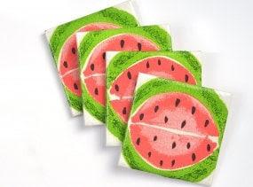 Watermelon Ceramic Coasters Fruit Summer Tile Drink Coasters