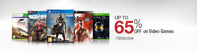 Up to 65% off on Video Games