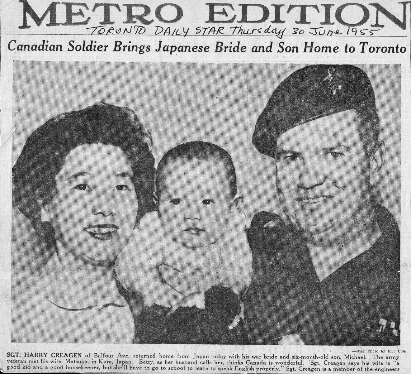 A soldier, a war bride, and a son