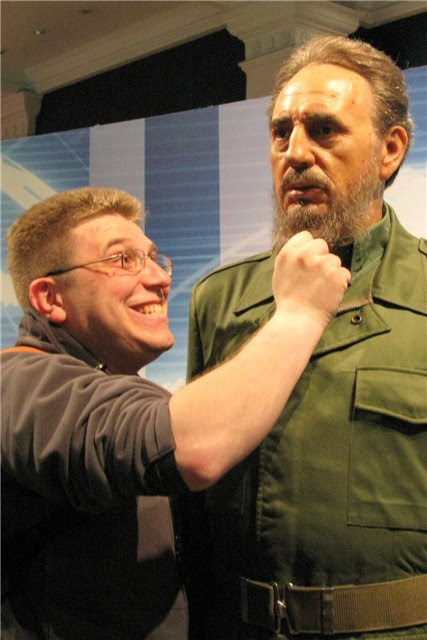 Кукла Фиделя Кастро в музее Тюссо