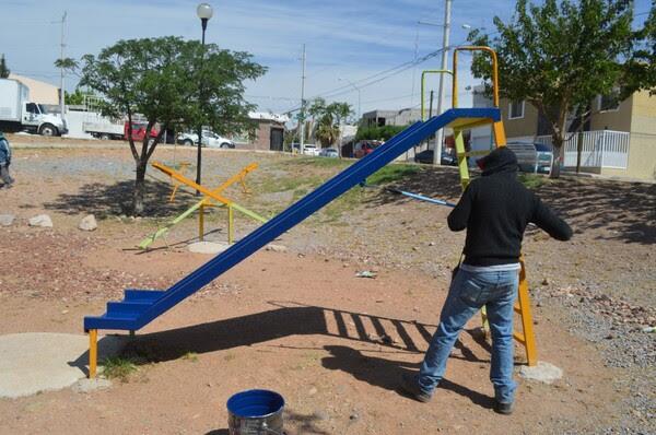 16233454487753306 Pausa MX Atendió Gobierno Municipal 78 parques con trabajos de pintura durante mayo