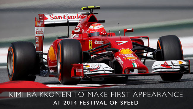 Kimi Raikkonen to attend Festival of Speed