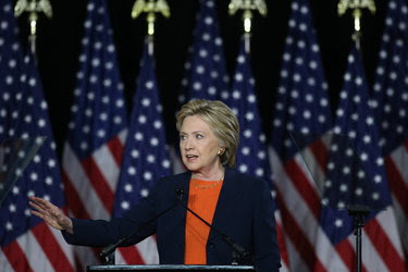 Hillary Clinton spoke about national security on Thursday in San Diego.