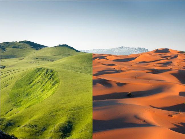 Sa mạc cũng từng màu mỡ lắm.