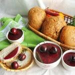 Паштет печеночно-грибной с вишневым желе