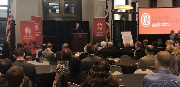 Lt. Governor Husted speaking the new Ohio Cyber Range Institute