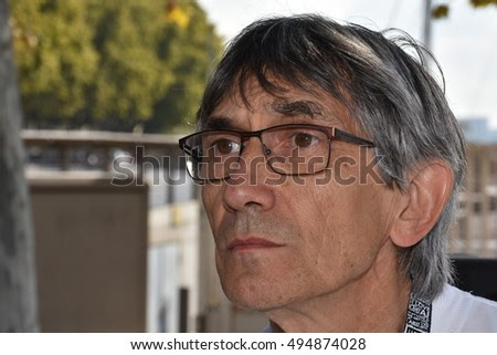 Marseille, France - October 06, 2016 : French cartoonist Jean-Paul Vomorin at the 5th edition of the International festival of press and political cartoons at l'Estaque.