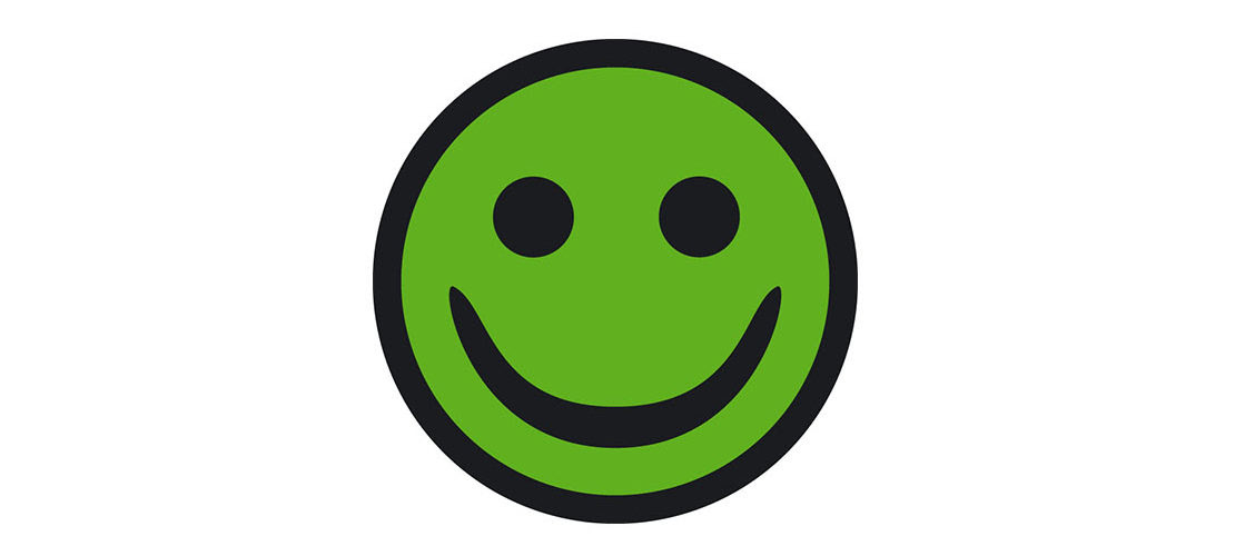 Grøn smiley fra Arbejdstilsynet