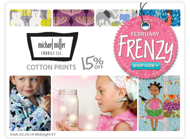 15% Off Michael Miller Cotton Prints